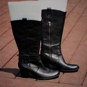 BOC Born Black Leather Boots - Size 9